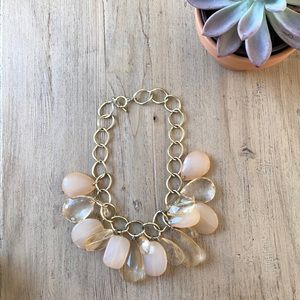 Jewelry - Classic light pink / coral gold cocktail necklace
